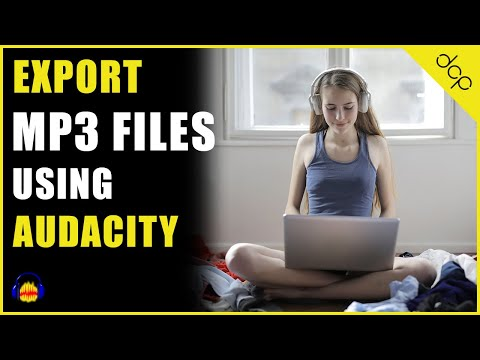 How to export MP3 file using Audacity audio editor on Windows 10