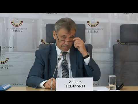 """2019-09-17 LLRA-KŠS frakcijos nario Z. Jedinskio sp. konf. """"Dėl politikų sąsajos su užsienio slap..."""