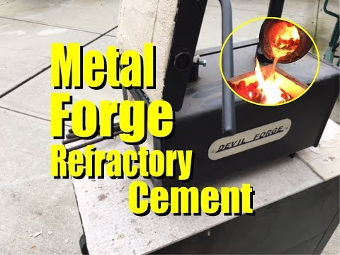 How to Seal Kaowool Ceramic Metal Forge Insulation with Refractory Cement