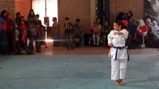 Heian-Godan Kata by 9-year-old Shams ... الكاتا الخامسة بواسطة شمس 9 سنوات
