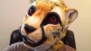 Cheetah mask jaw movement