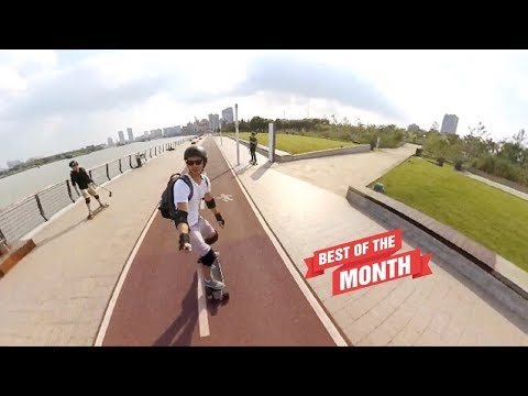 Electric Skateboarding in Shanghai China! Filmed with Insta360 One!