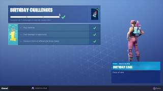 How to GET the fortnite birthday Challenges (For players without the birthday challenges)