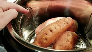 Instant Pot -  baked sweet potatoes recipe