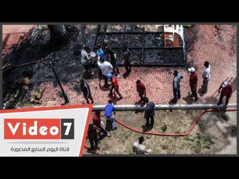 حريق بمركز شباب الجزيرة.. والدفع بسيارات إطفاء للسيطرة على النيران
