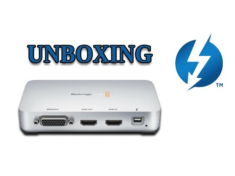 Blackmagic Intensity Extreme Unboxing Review Thunderbolt Gaming Capture Card Ps3 Xbox Wiiu Pc Youtube