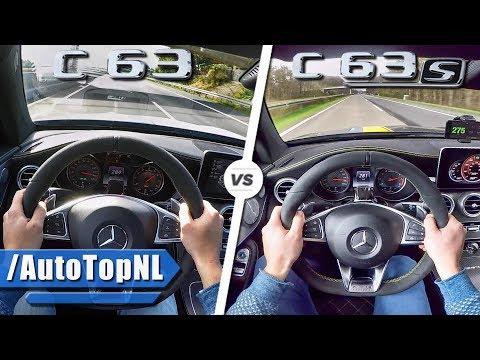 Mercedes AMG C63 Vs C63 S ACCELERATION & TOP SPEED 0-260km/h AUTOBAHN POV By AutoTopNL