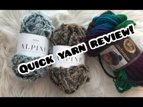 Alpine Yarn and Landscapes Yarn Review!!!!