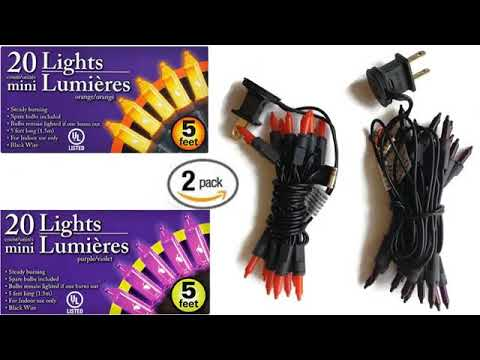 Must See Review 2017! Northlight Mini Halloween or Christmas Lights ...