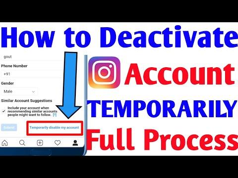 How to Deactivate Instagram Account Temporarily   How To Deactivate Instagram Account