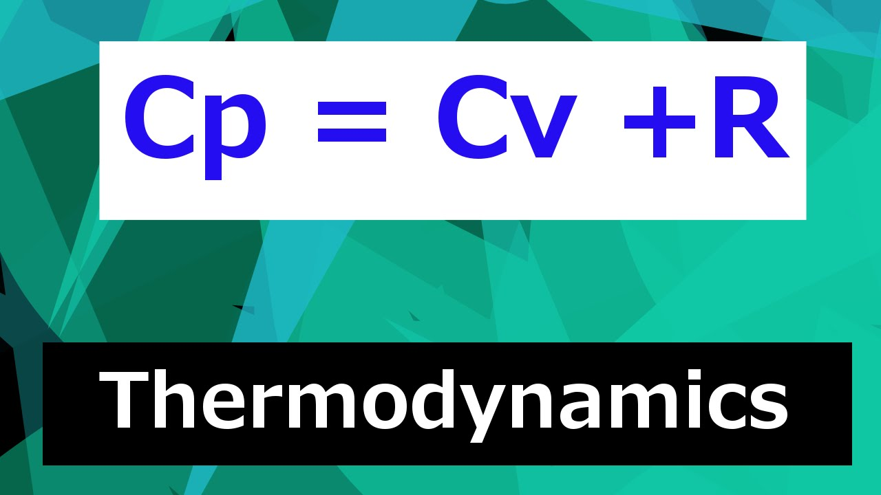 why is cp   cv   r         thermodynamics - class 100