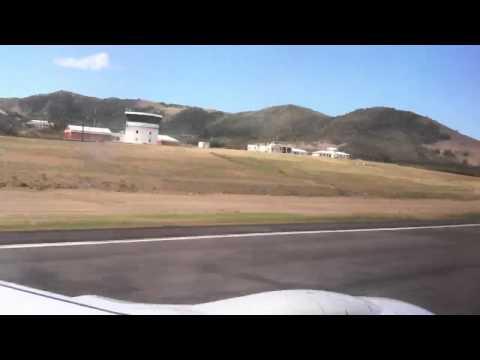 Landing in St. Kitts & Nevis Airport