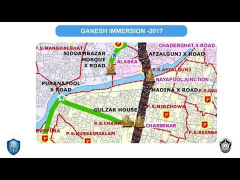 Hyderabad Map Of Ganesh Chavithi,