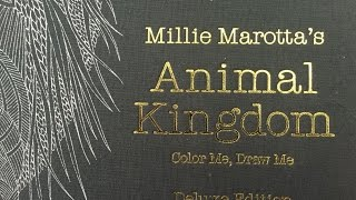 Animal Kingdom DELUXE EDITION Adult Coloring Book By Millie Marotta Review And Flip Through