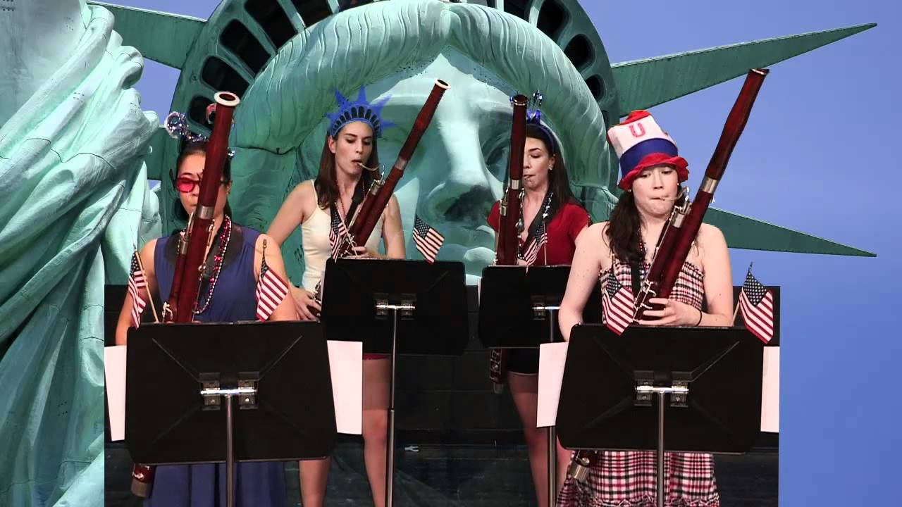 4th of July Celebration- Bassoonicana, The Breaking Winds Bassoon Quartet -  YouTube