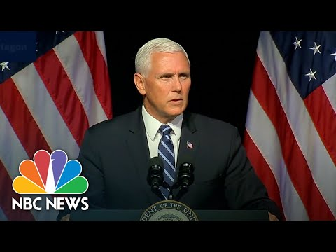 Vice President Mike Pence Outlines President Trump Plan For New Space Force By 2020 | NBC News