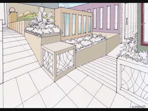 Perspective drawing step by step by miandza youtube - Two point perspective living room ...