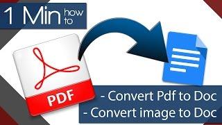 1 Min How To - OCR - Convert PDF to Google Docs