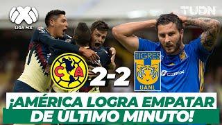 ¡De infarto! Error de Nahuel Guzmán y América empata al 85' | América 2-2 Tigres AP-17 | TUDN