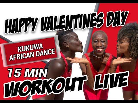 KUKUWA® AFRICAN DANCE 15 Min: Happy Valentines Day!