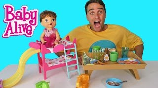 Baby Alive Breakfast In Bed ! || Toy Review || Konas2002