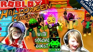 Roblox Halloween [🎃SPOOKY🎃]  Mining Simulator with Special Guest: Luke Ly [KM+Gaming S03E017]