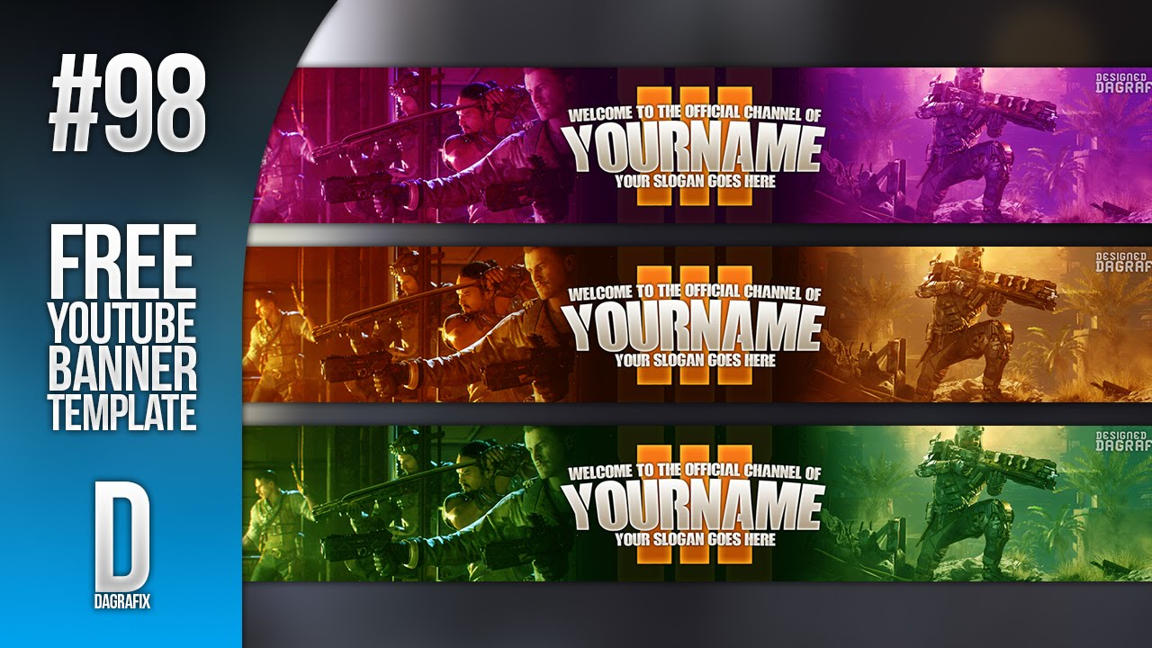 Bo3 Youtube Banner Template Download 98 Free Photoshop Download