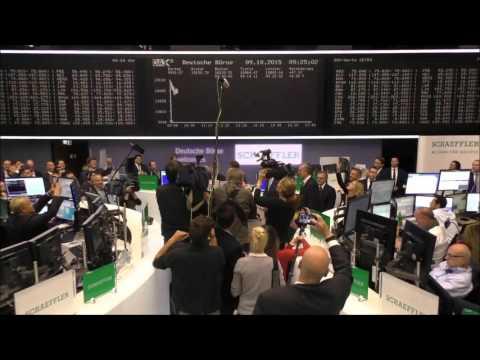 Schaeffler goes public: first day of trading on the stock exchange [Schaeffler]