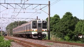 211系0番台快速名古屋行き(K52)加佐登河曲通過