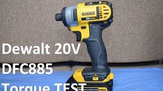 Dewalt 20V Max Impact Driver DCF885 Lug Nuts Torque Test