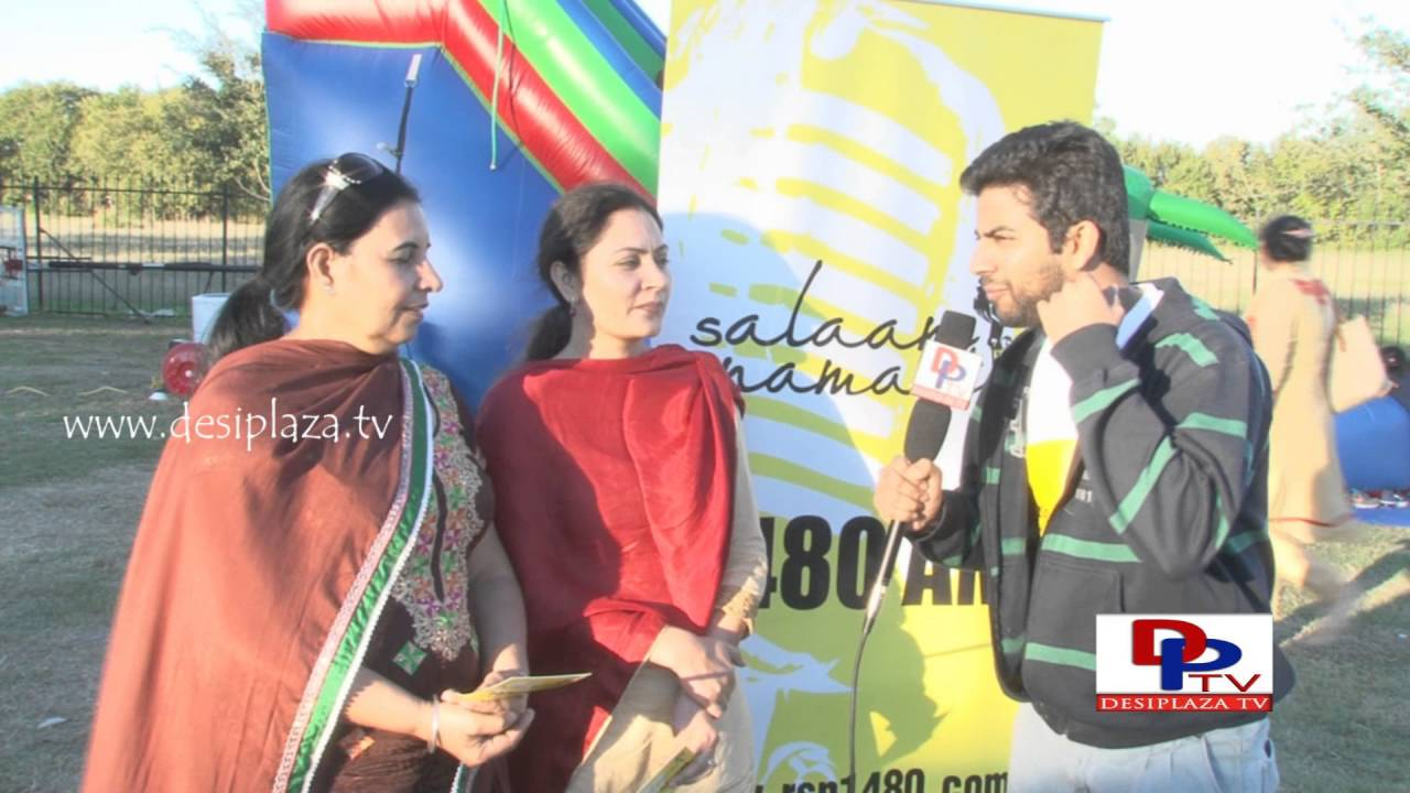 Ladies at Khed Mela talking to Desiplaza in Salam Namaste promotions