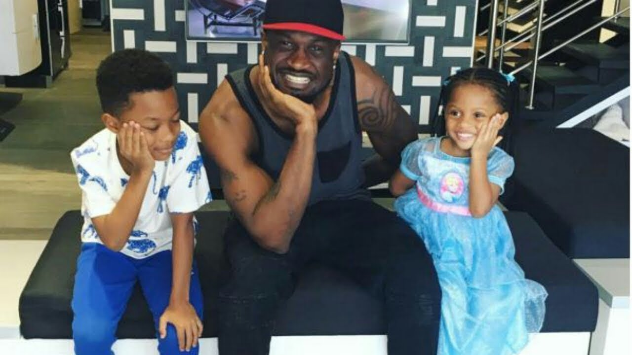 Image result for pictures of peter okoye and family