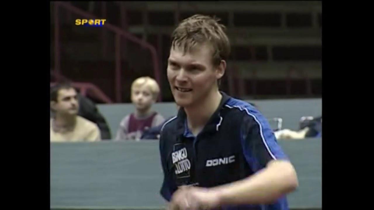 Table tennis Chuan Chih - Peter Karlsson Zagreb 2003