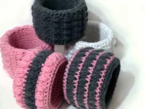 Вязаные браслеты, вязание крючком для начинающих. Готовые изделия.
