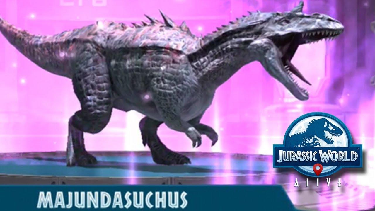 MAJUNDASUCHUS HYBRID - Jurassic World Alive - YouTube
