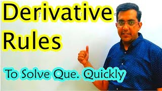 Differentiation | Solve Any Que. in 5 Seconds | Class 12 CBSE NCERT Maths in Hindi | Lecture 2