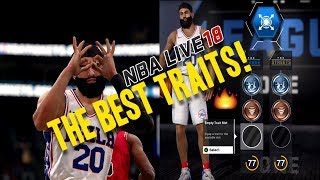 NBA LIVE 18 THE ONE STRETCH BIG | BEST SHOOTER TRAITS! UNSTOPPABLE!