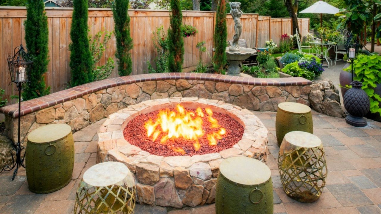 cool fire pit ideas - outdoor