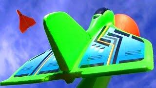 Stomp Rocket Powered Glider Cheap Fun Toy & Matchbox Jet Plane Crash