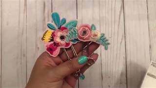 Altered paper clips using adhesive sticker patches from Hobby Lobby