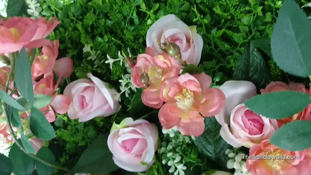 Artificial Flower Wall, Vertical Garden, Silk Flowers, Suitable For Wedding  Indoor Decoration