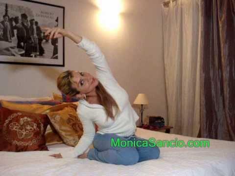 monica sancio yoga stretch on your bedwmv  youtube