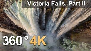 360°, Victoria Falls, Zambia-Zimbabwe. Part II. 4К aerial video