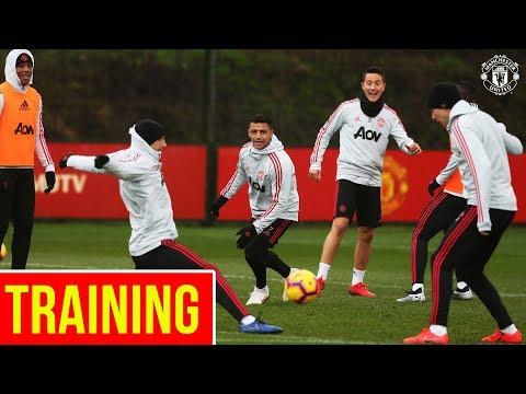 Manchester United train ahead of Brighton Clash | Alexis, Martial, Mata, Herrera, Bailly, Lukaku