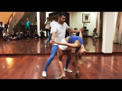 Kiko & Christina - Bachata Sensual @ V-Danse Studio in Jakarta, Indonesia´17