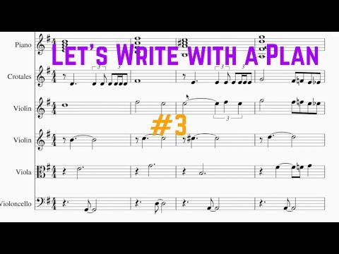 Arranging Begins - Let's Write With a Plan #3 - Ben Levin
