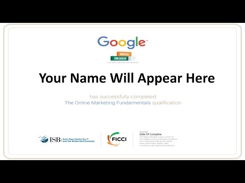 Free Google Certification Digital Marketing