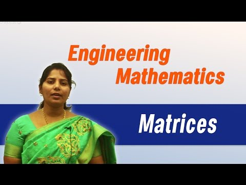 Engineering Mathematics-I by Ms. Angel (Part I): Matrices