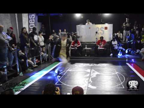 DEMO POPPING JUDGE Juste Debout Italy Napoli 2017 BOOGALOO KIN