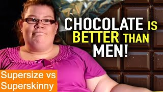 Julie loves chocolate so much that she'd rather have a mansize bar of than an actual man!, each the participants eat diet other. at end experiment, they ...